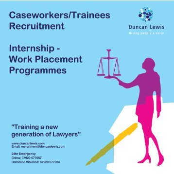 Recruitment Brochure - Duncan Lewis Solicitors