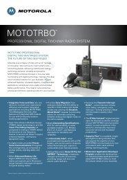 MOTOTRBO System - Motorola Solutions