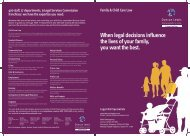 Family & Child Care Brochure - Duncan Lewis Solicitors