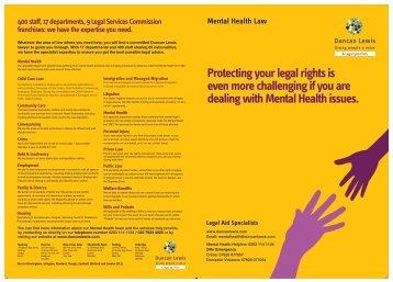 Mental Health Leaflet - Duncan Lewis