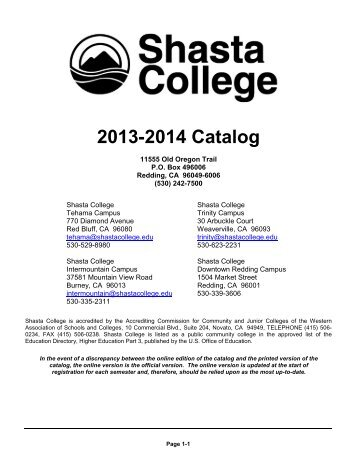 Shasta College Tehama Campus Map.Tentative Itv 2 Year Sequence Of Courses The Shasta College
