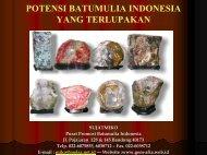 Potensi Batumulia Indonesia yang Terlupakan