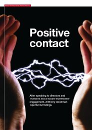 positive contact board-shareholder engagement - Tapestry Networks