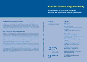 Journal of European Integration History - The European Union ...