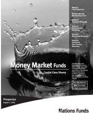 Money Market - Bank of America