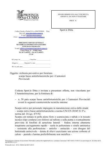 Richiesta preventivo per materiale laparoscopico azienda for Preventivo impianto elettrico pdf