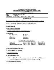 June 17, 2013 Board Agenda.pdf - Oxford Hills School District