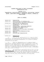 Accountancy Chapter 30-X-4 Supp. 6/30 - Alabama Administrative ...