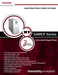 1600EP Series - On Power
