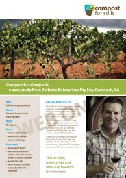 Kalleske Enterprises Pty Ltd - vineyards - Compost for Soils