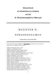 register ii : persoonsnamen - St. Plechelmusbasiliek Oldenzaal