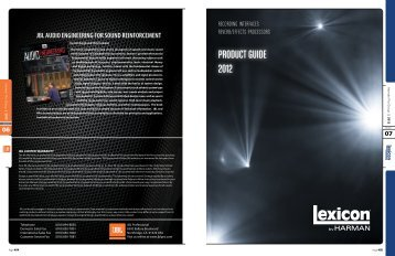 PRODUCT GUIDE 2012