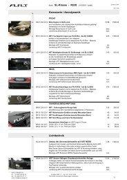 Karosserie / Aerodynamik Lichttechnik Basis SL-Klasse - R230 (10 ...