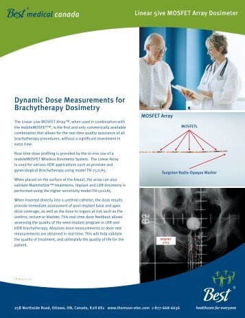 Dynamic Dose Measurements for Brachytherapy ... - PI Medical