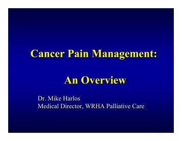 Cancer Pain Management: An Overview - Palliative.info