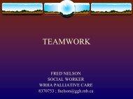 Teamwork - Palliative Care
