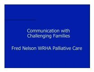 Communication with Challenging Families Fred ... - Palliative Care