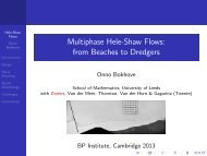 Multiphase Hele-Shaw Flows: from Beaches to Dredgers - School of ...