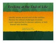 Feeding At End of Life - Palliative Care