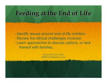 ethical dilemma in end of life care in nursing Presents a case study concerning an ethical dilemma at the end of life.