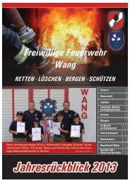 Jahresbericht der Freiwilligen Feuerwehr Wang - BFKDO Scheibbs