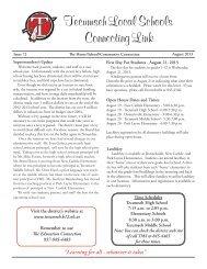 August 2013 - Tecumseh Local Schools