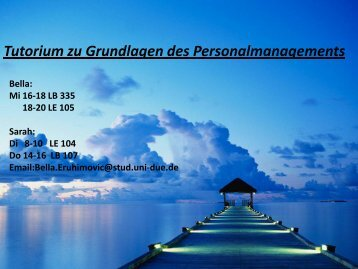 Tutorium Grundlagen des Personalmanagement