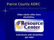 Overview - Washington Association of Area Agencies on Aging
