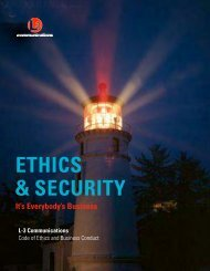 ETHICS & SECURITY - L-3 Communications
