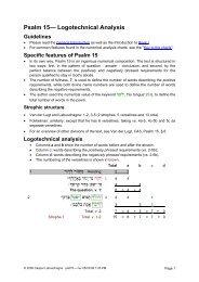 Logotechnical Analysis of Psalm 15 - labuschagne