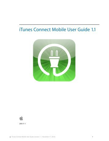 itunes connect mobile user guide 1 1 pages draft apple rh yumpu com 30GB iPod User Guide 30GB iPod User Guide