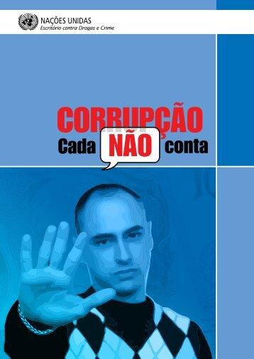 """Veja o livreto – """"Corrupção - cada não conta"""" - Rede Nossa São Paulo"""