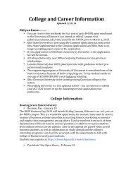 College and Career Information - Tecumseh Local Schools