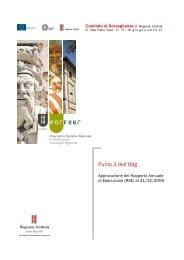 (RAE) al 31/12/2009 - POR FESR - Regione Umbria