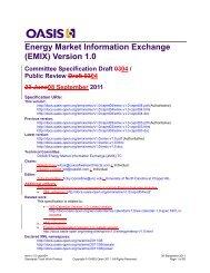 Energy Market Information Exchange (EMIX) Version 1.0