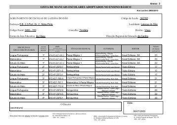 lista de manuais escolares adoptados no ensino básico