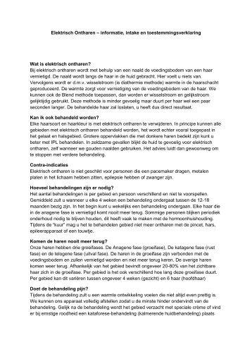 Elektrisch Ontharen – informatie, intake en ... - Webklik