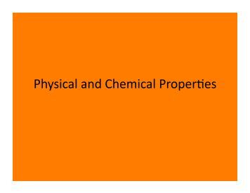 chemical and physical changes lab Physical and chemical properties of matter  and a chemical change affects its chemical properties many physical changes are reversible.