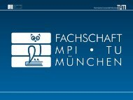 Folien (PDF) - Fachschaft Mathematik/Physik/Informatik - TUM