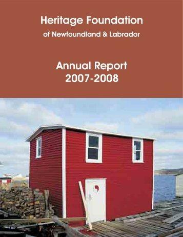 The Heritage Foundation of Newfoundland and Labrador - Tourism ...