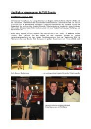 Highlights vergangener ALTUS Events von 2006-2009 - Altus Flutes