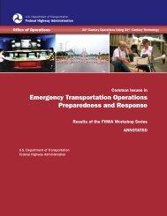 Emergency Transportation Operations Preparedness and - FHWA ...