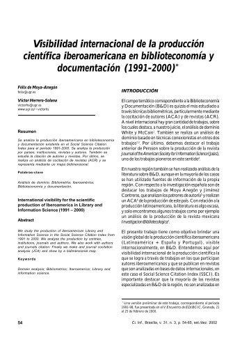 Visibilidad internacional de la producción científica ... - Madri+d