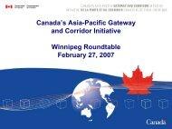 Canada's Asia-Pacific Gateway and Corridor Initiative