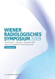 WIENER RADIOLOGISCHES SYMPOSIUM2009 - RTaustria