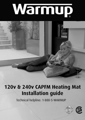 120v & 240v CAPFM Heating Mat Installation guide - Warmup