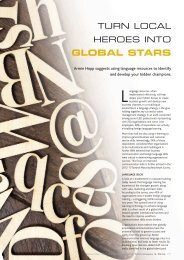 Turn local heroes into global stars - Speexx