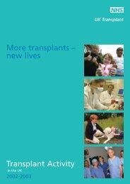 UK Activity Report 2002-2003 - Organ Donation