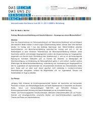 v. Borries - internationale Konferenz