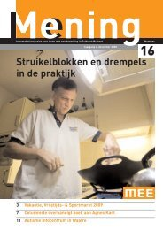 Mening nr 16 december 2008 - MEE Zuidoost Brabant